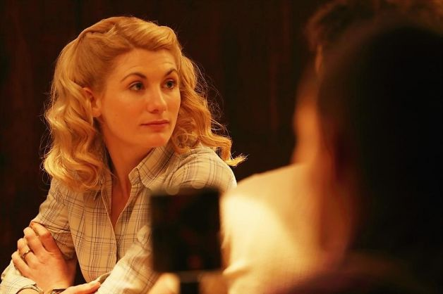 Actress Jodie Whittaker protrays my friend, Sandy Grimes, who helped catch Ames